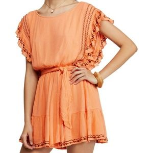 Free People Weekend Brunch Embroidered Dress Women